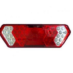 Lanterna Traseira Guerra Led 24V c/ Conector LE