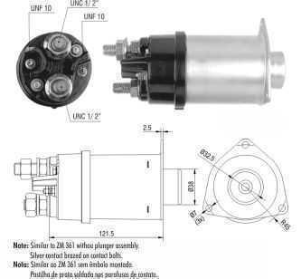 CHAVE MAG. MP DELCO 42MT 24V CASE/CATERPILLAR/CLARK