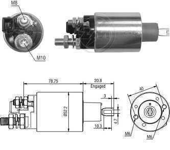 CHAVE MAG. MP FORD/AGRALE F250/F350/F1000/F4000 MWM PRESTOLITE