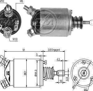 CHAVE MAG. MP AGRALE/VALMELT 110/68/85 BOSCH 12V