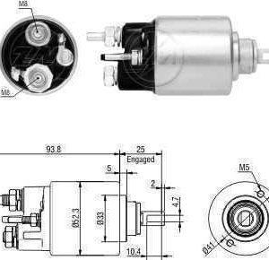 Automático Logan Sandero Symbol 12V Bosch