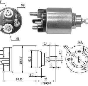 CHAVE MAG. MP FORD/VOLVO FIESTA/KA/FOCUS/FUSION/S40/V50 BOSCH