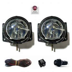 Kit Farol Milha Grand Siena 12/16 Interruptor Universal