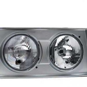 FAROL VW TITAN/MAN 2001 ATE 2005 LD DUPLO H1 MOLDURA CINZA