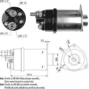 CHAVE MAG. MP CASE/CATERPILLAR/FIAT ALLIS/JOHN DEERE/MB DELCO 37MT 24V