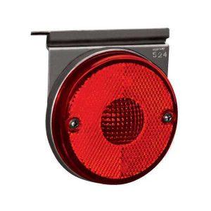 Lanterna Lateral Randon c/ Suporte e Conector Vermelha