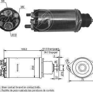 CHAVE MAG. MP FIAT ALLIS DELCO 28MT 24V