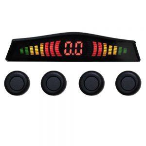 Sensor Estacionamento Preto 12V C/Display Digital Completo