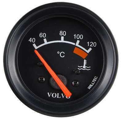 Relogio Temperatura Volvo 24V 60mm Eletrico C/Iluminação