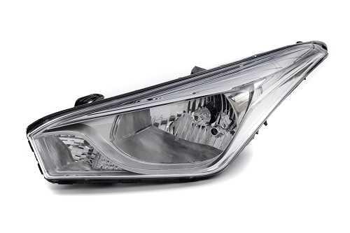 Farol Hyundai HB20 14/18 Le Moldura Metalizada