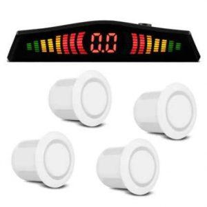 Sensor Estacionamento Branco 12V C/Display Digital Completo