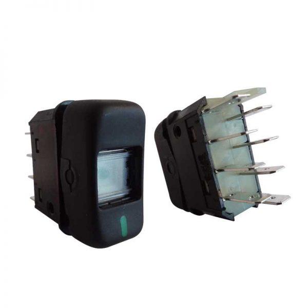 Interruptor Luz Tecla MB 88 24V Preto 1 Estagio