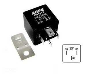 RELE AUX. 12V 4 TERM. 70 AMP. C/ SUP.